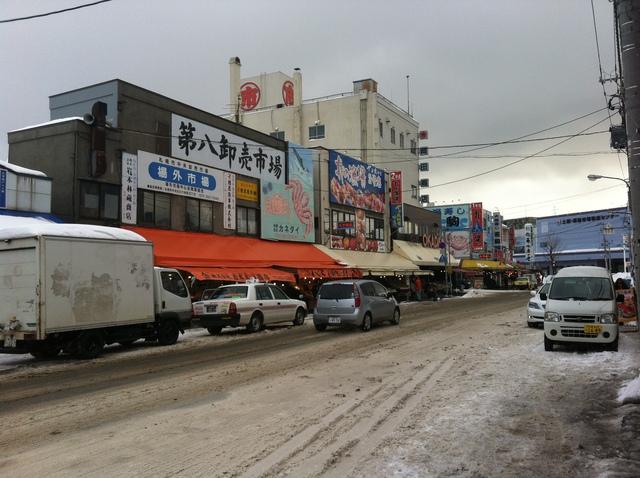 北海道札幌場外市場の風景